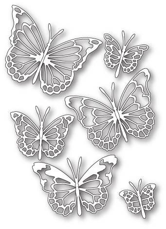 Memory Box Morning Garden Butterflies craft die (30085)