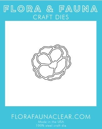 Flora and Fauna Lg Outline Flower Die 30180
