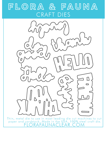 Flora and Fauna Curly hello Word Set 30273