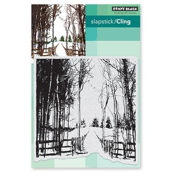 Penny Black Snow trails cling stamp 40-655