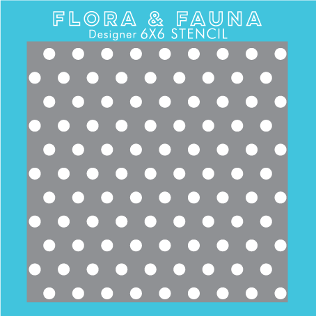 Flora and Fauna Polka Dot Stencil 40002