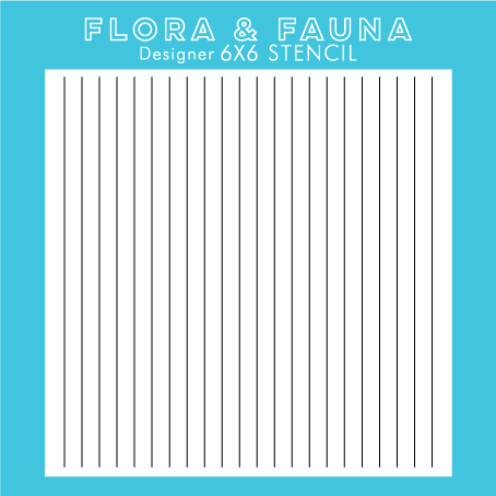 Flora and Fauna Thin Stripe Stencil