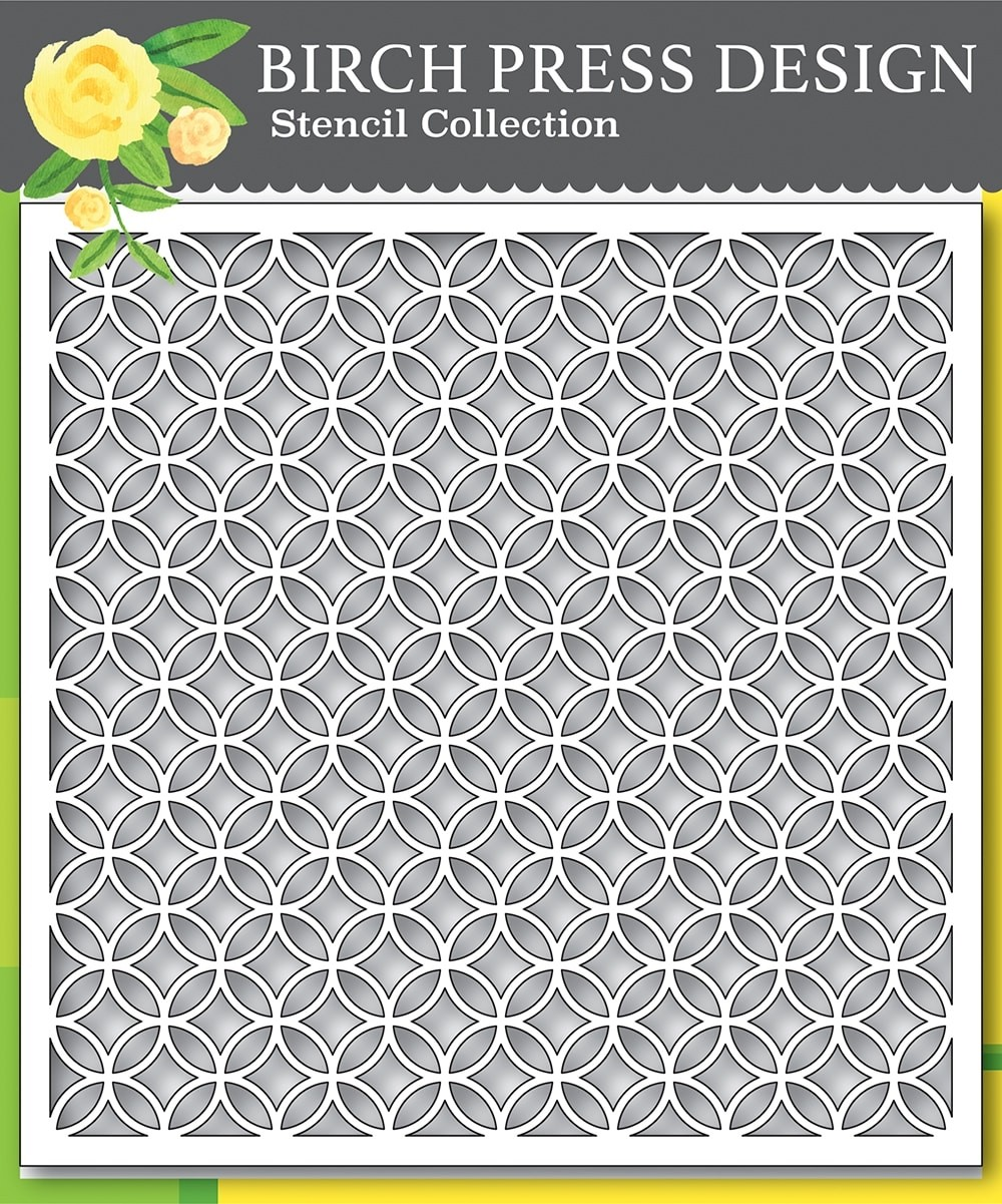 Birch PressRing Tile Stencil 42030