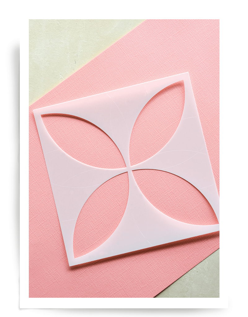Birch Press Petal Burst Stencil 44023