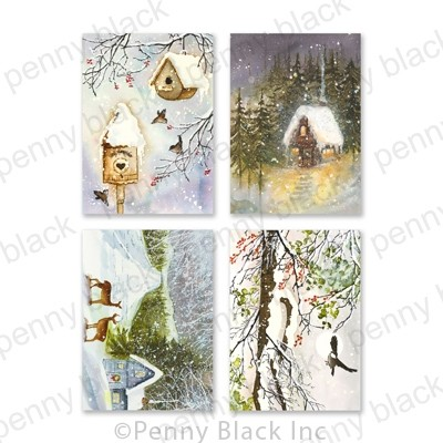 Penny Black Home for Christmas Cards