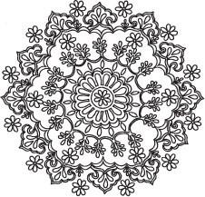 5171F - doodle ornate