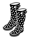 5260D - polka dot boots