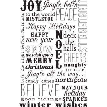 Christmas Words.5401i Christmas Words Winter Rubber Stamps Shop