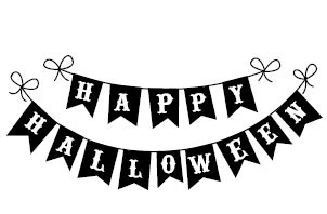 5428E - happy halloween banner - halloween - Rubber Stamps - Shop