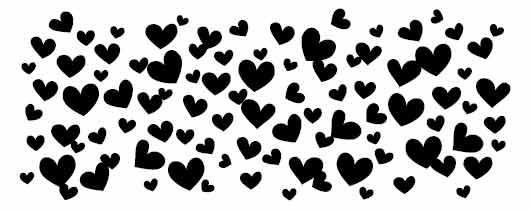 5448e - hearts border