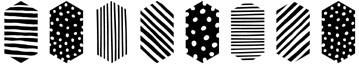 5515f - textured hexagon border
