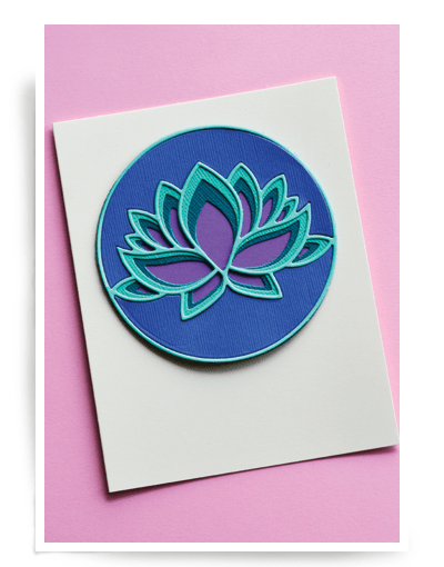 Birch Press Lotus FLower Layer Set 56100