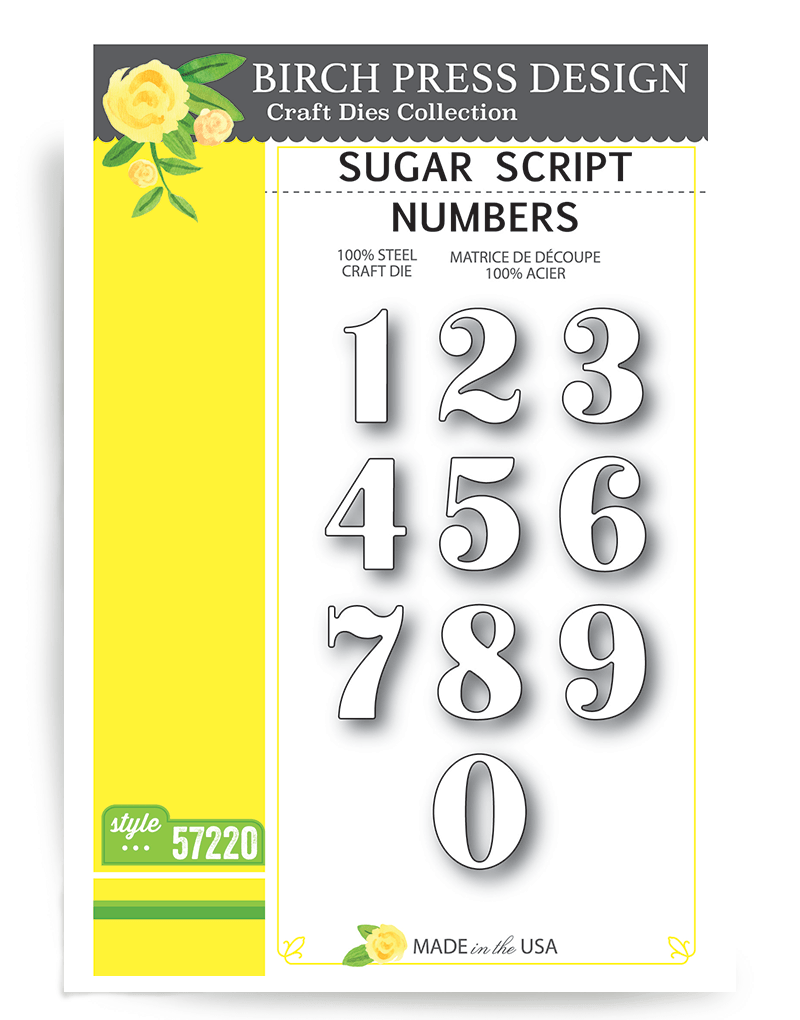 Birch Press Sugar Numbers