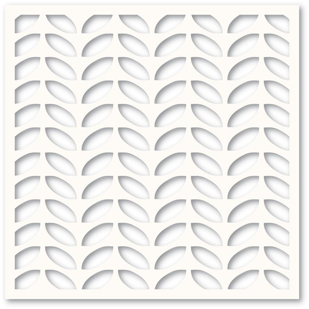 Memory Box Leafy Rows Stencil