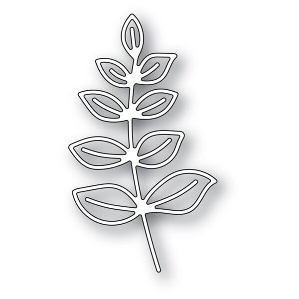 Memory Box Scribble Leafy Branch Outline Die 94274