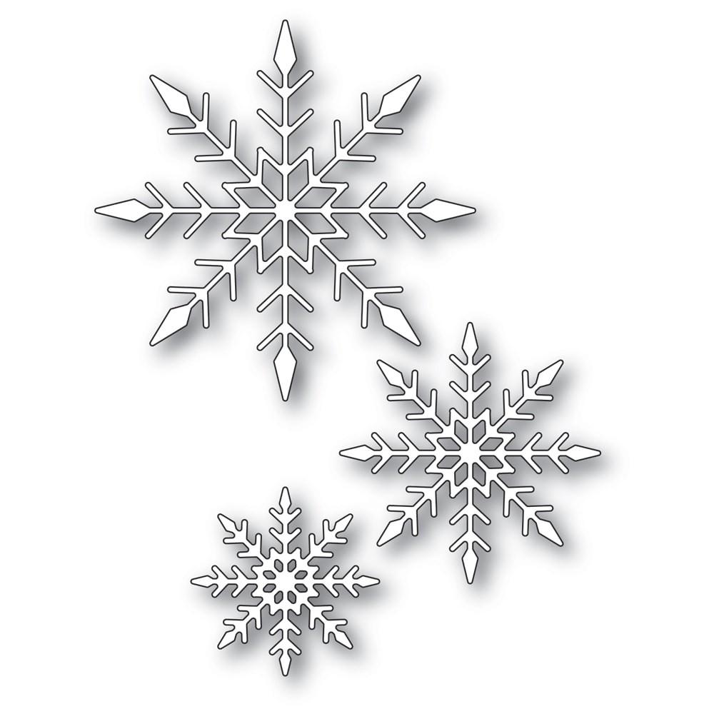 Memory Box Sparkling Snowflake Trio 94287