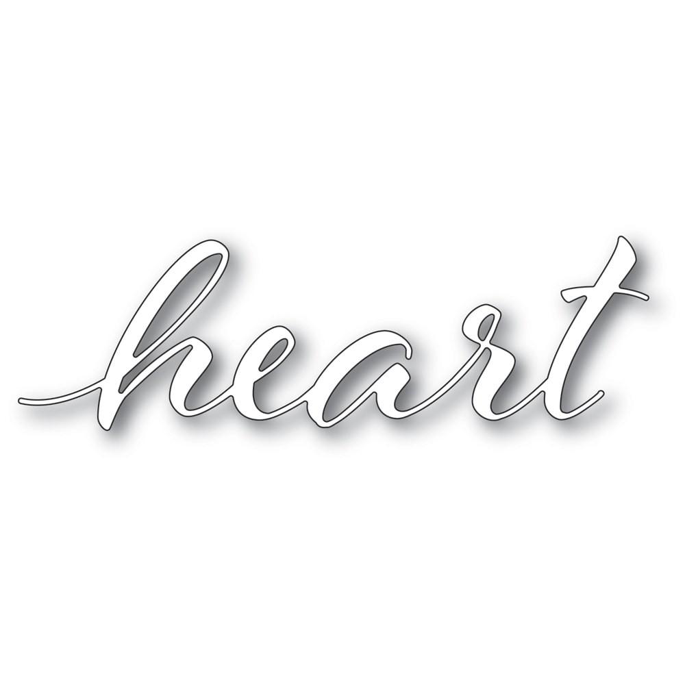 SALE - Memory Box 94333 Heart Airy Script craft die