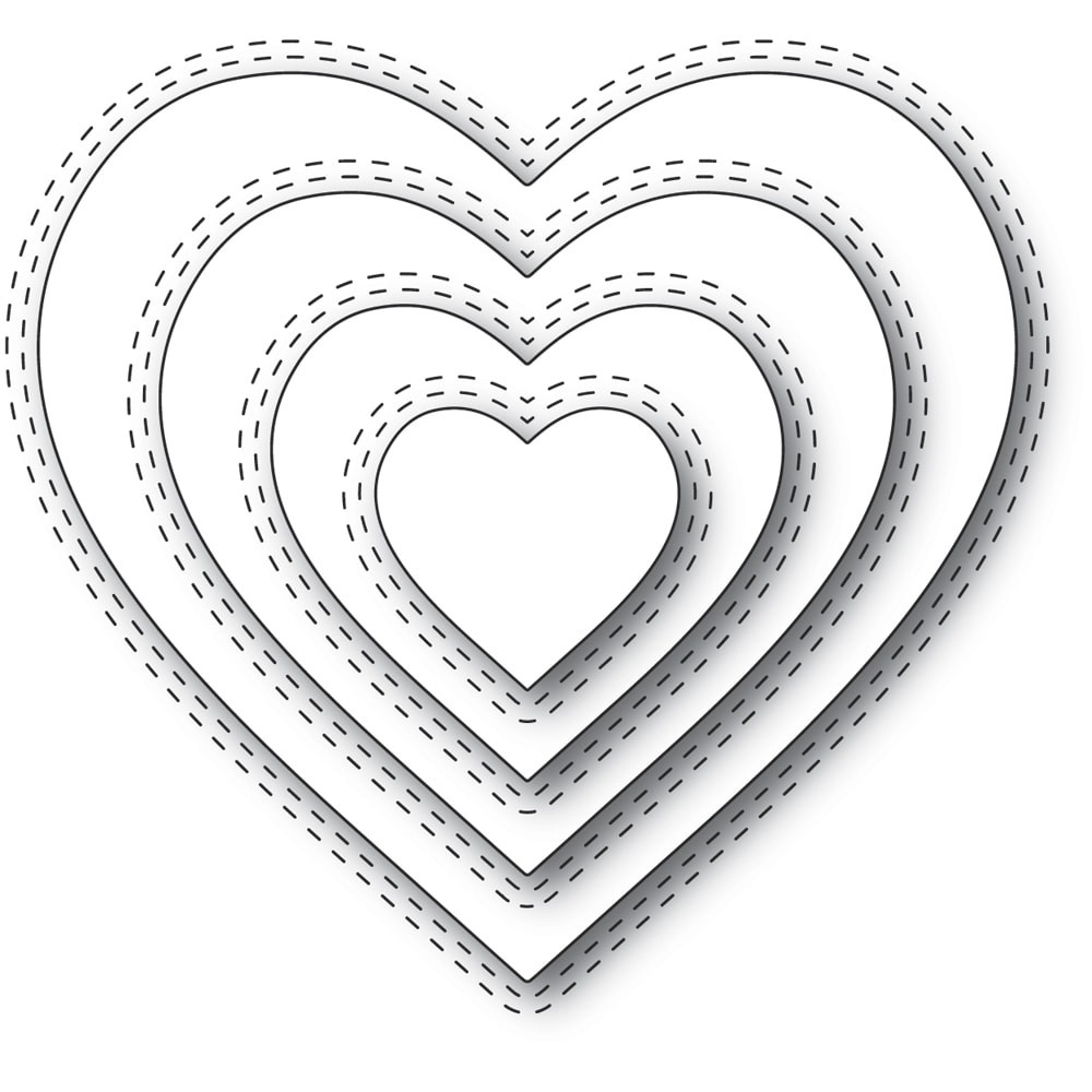 Memory Box  94359 Double Stitch Loving Heart Cut Out craft die