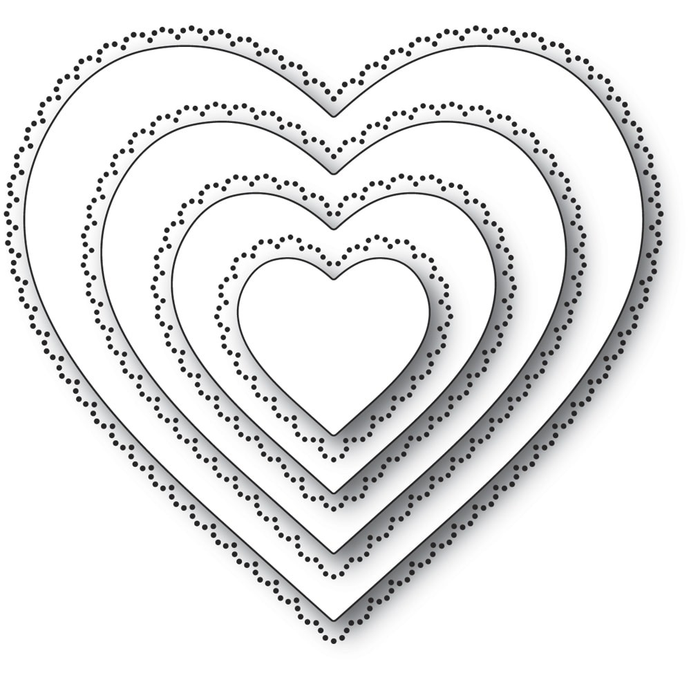 Memory Box 94364 Scallop Pinpoint Loving Heart Cut Out craft die