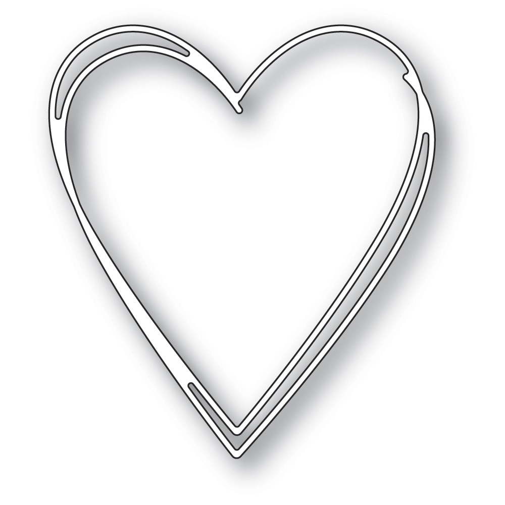 Memory Box 94365 Tall Sketch Heart craft die