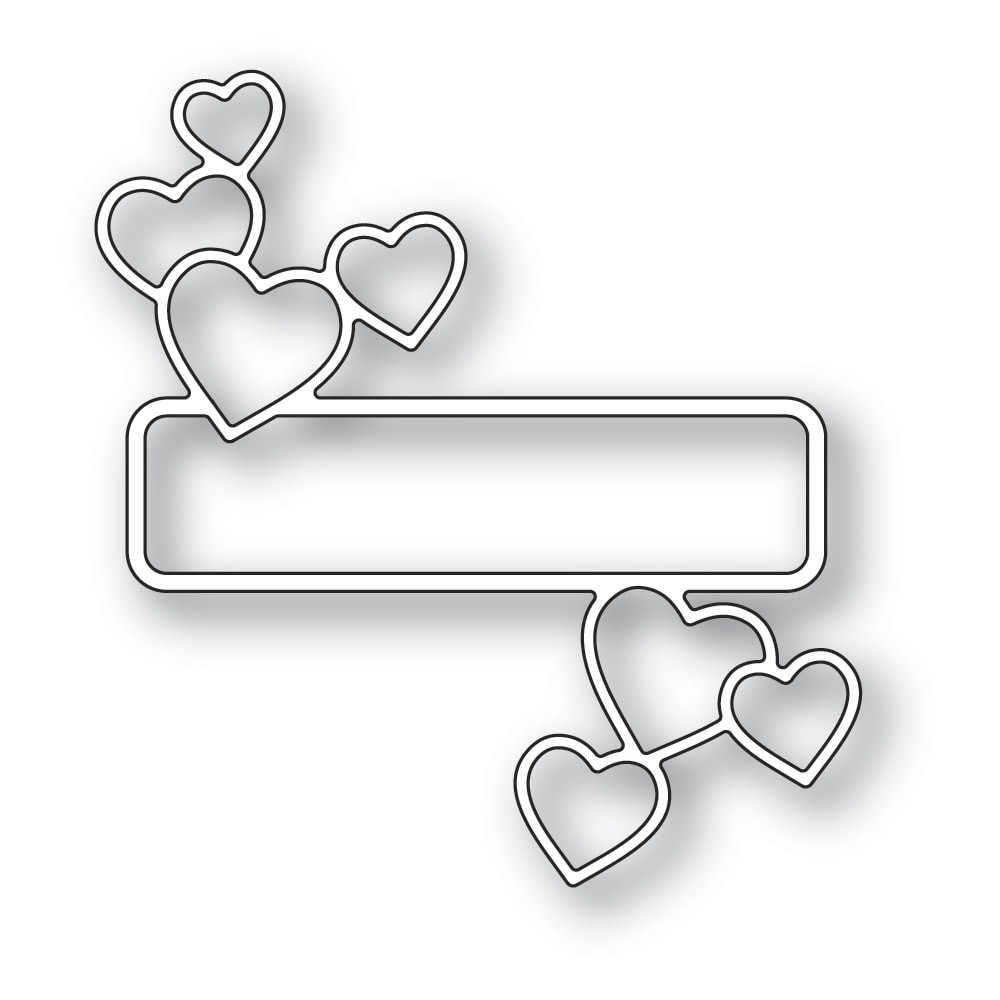 Memory Box Antique Heart Label craft die 94382