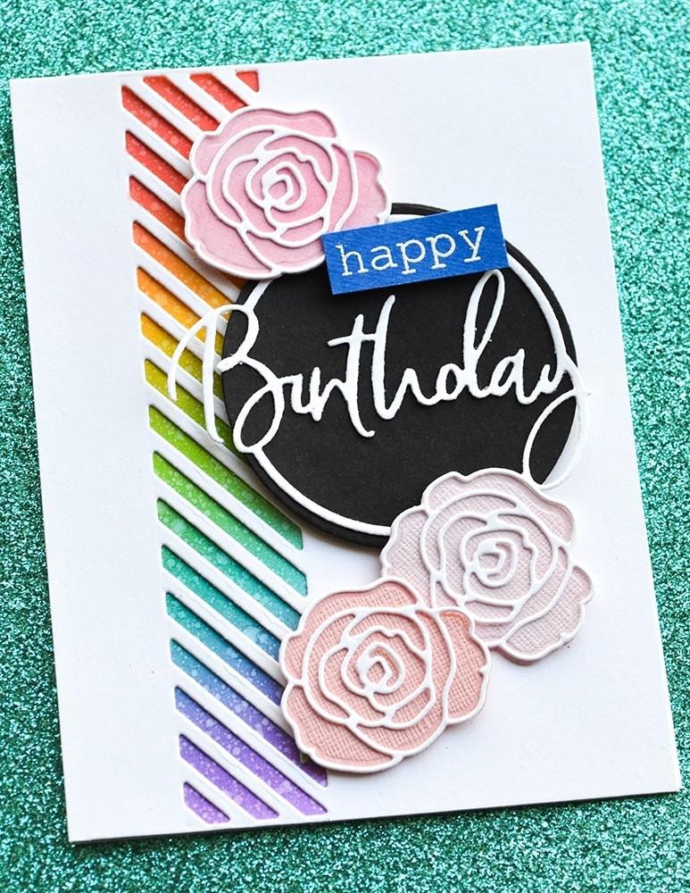Memory Box Birthday Cursive Script Circle 94396