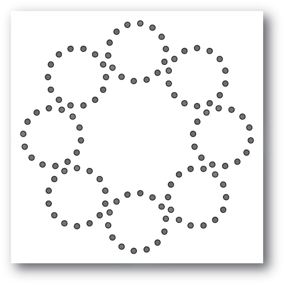 Memory Box Stitched Circle Wreath 94407
