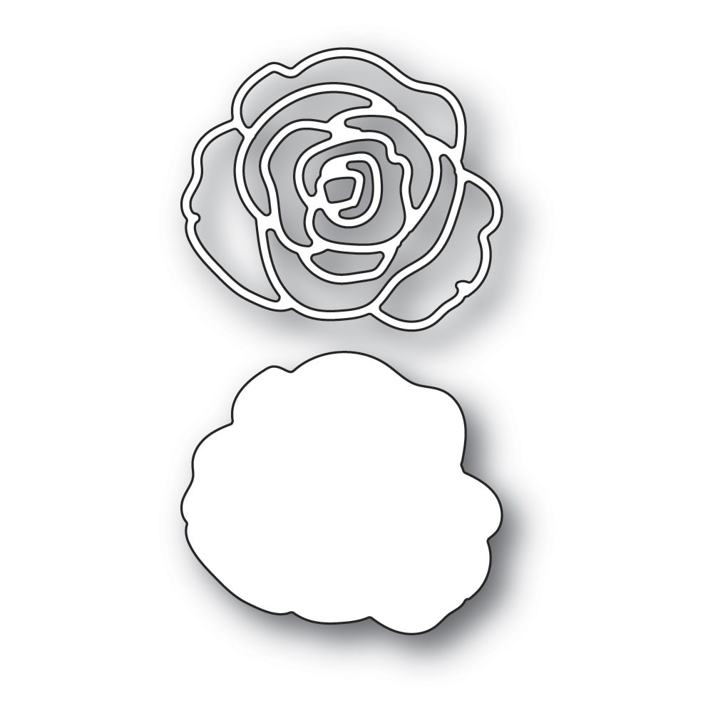 Memory Box Rose Blossom and Background 94417