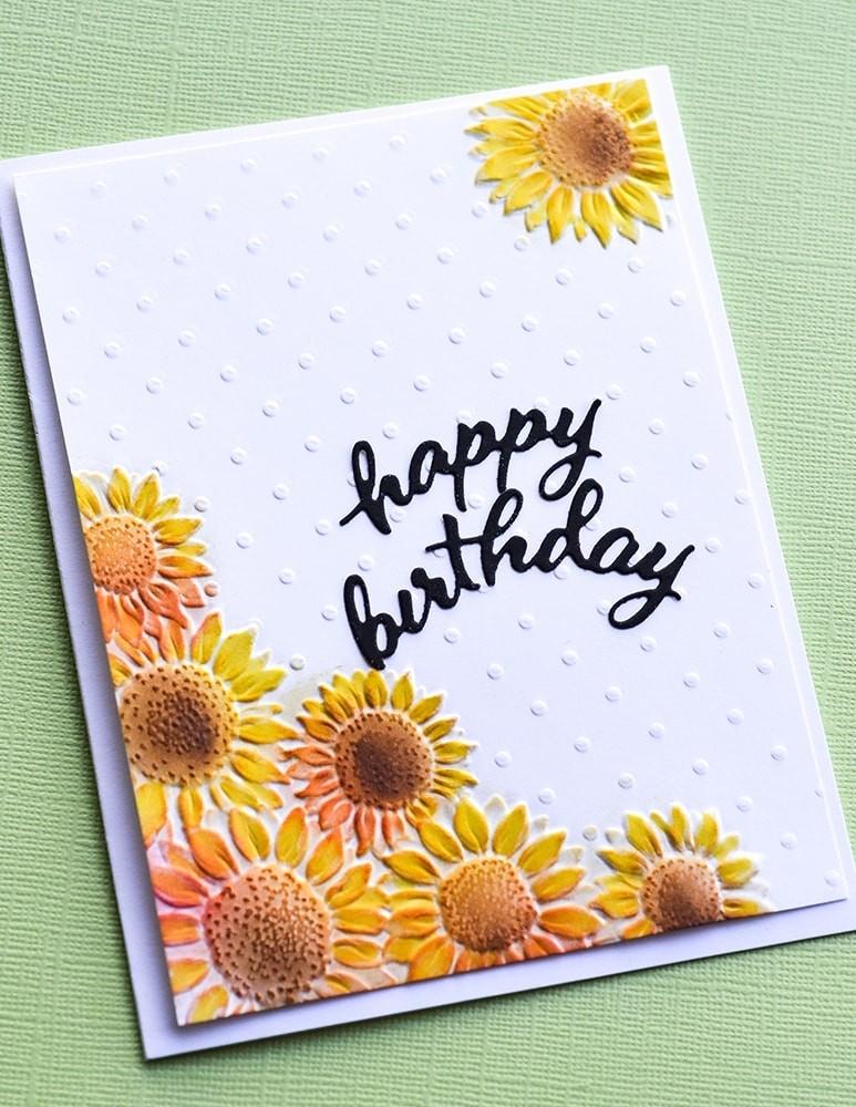 Memory Box Arched Happy Birthday 94437