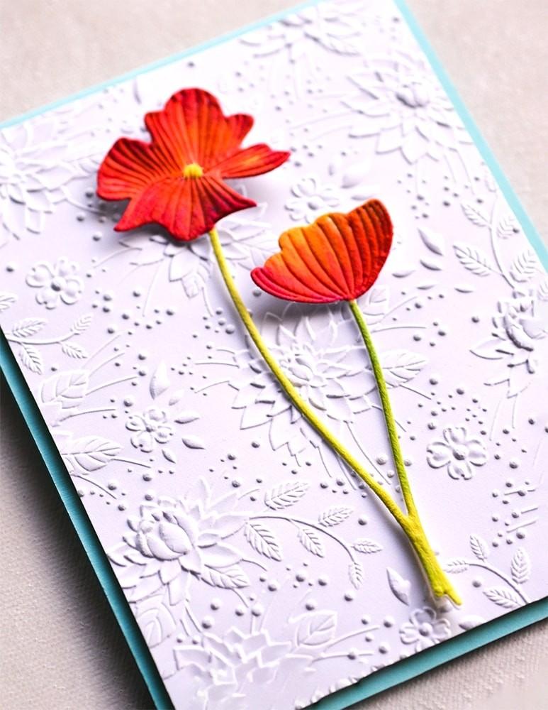 Memory Box Splendid Poppy Stems 94442