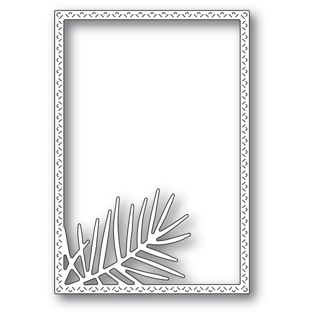 Memory Box Pointed Pine Needle Frame 94483
