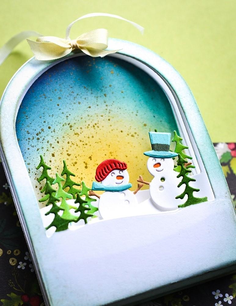 Memory Box Snowmen Snowglobe 94492