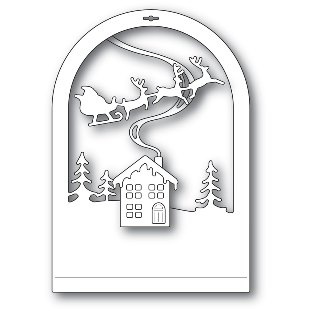 Memory Box Cabin Snowglobe 94494