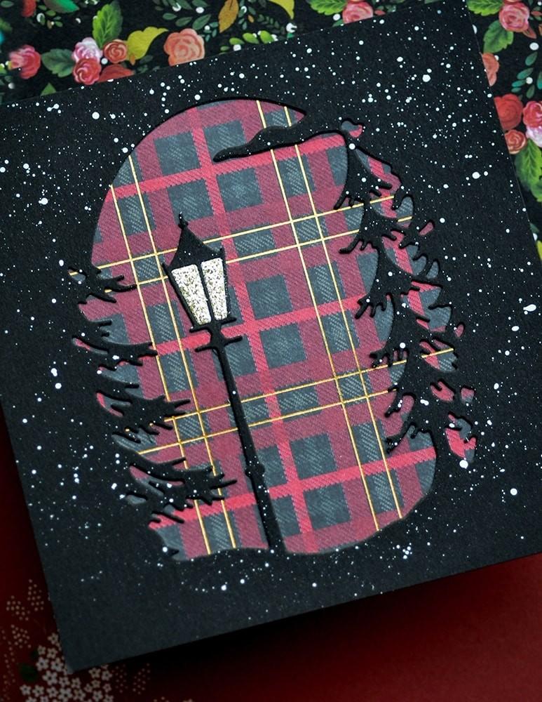 Memory Box Lamplight Tree Collage 94501