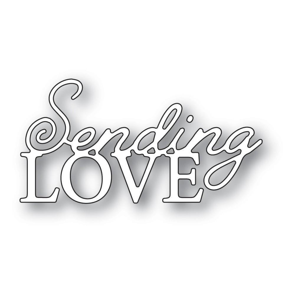 Memory Box Sending Love Posh Script 94543