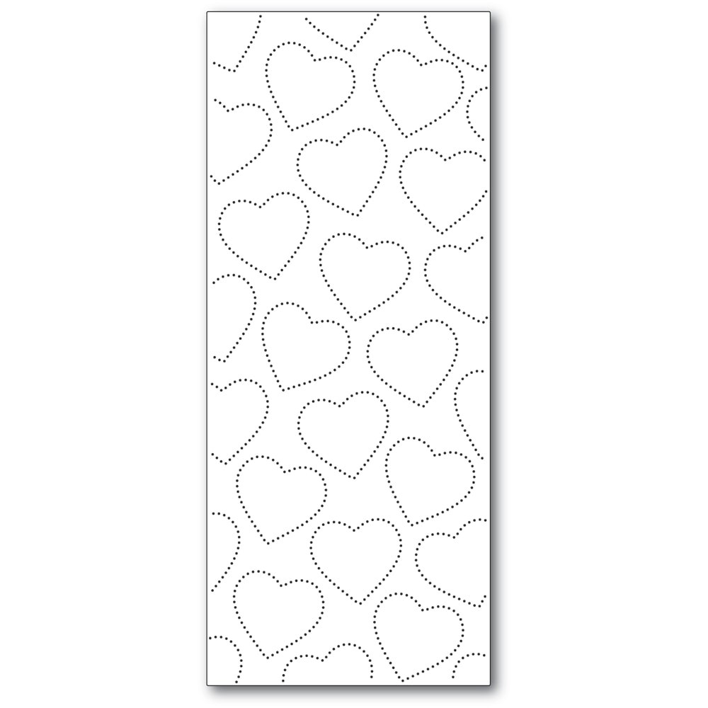 Memory Box Slim Pinpoint Heart Plate 94550