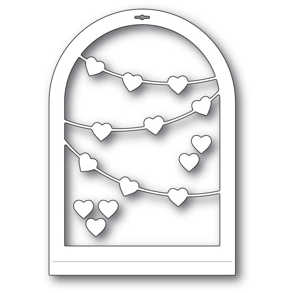 Memory Box Heart Streamer Globe 94558