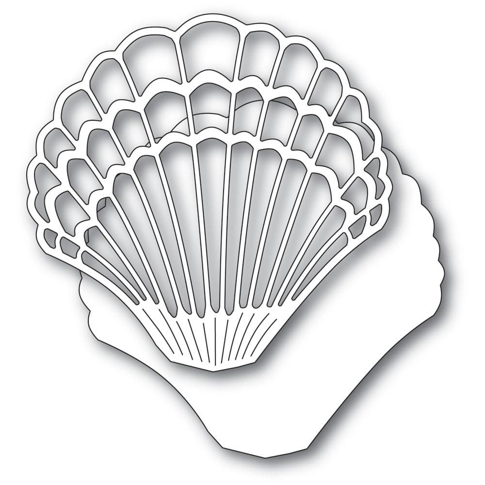 Memory Box Grand Scallop Shell 94568