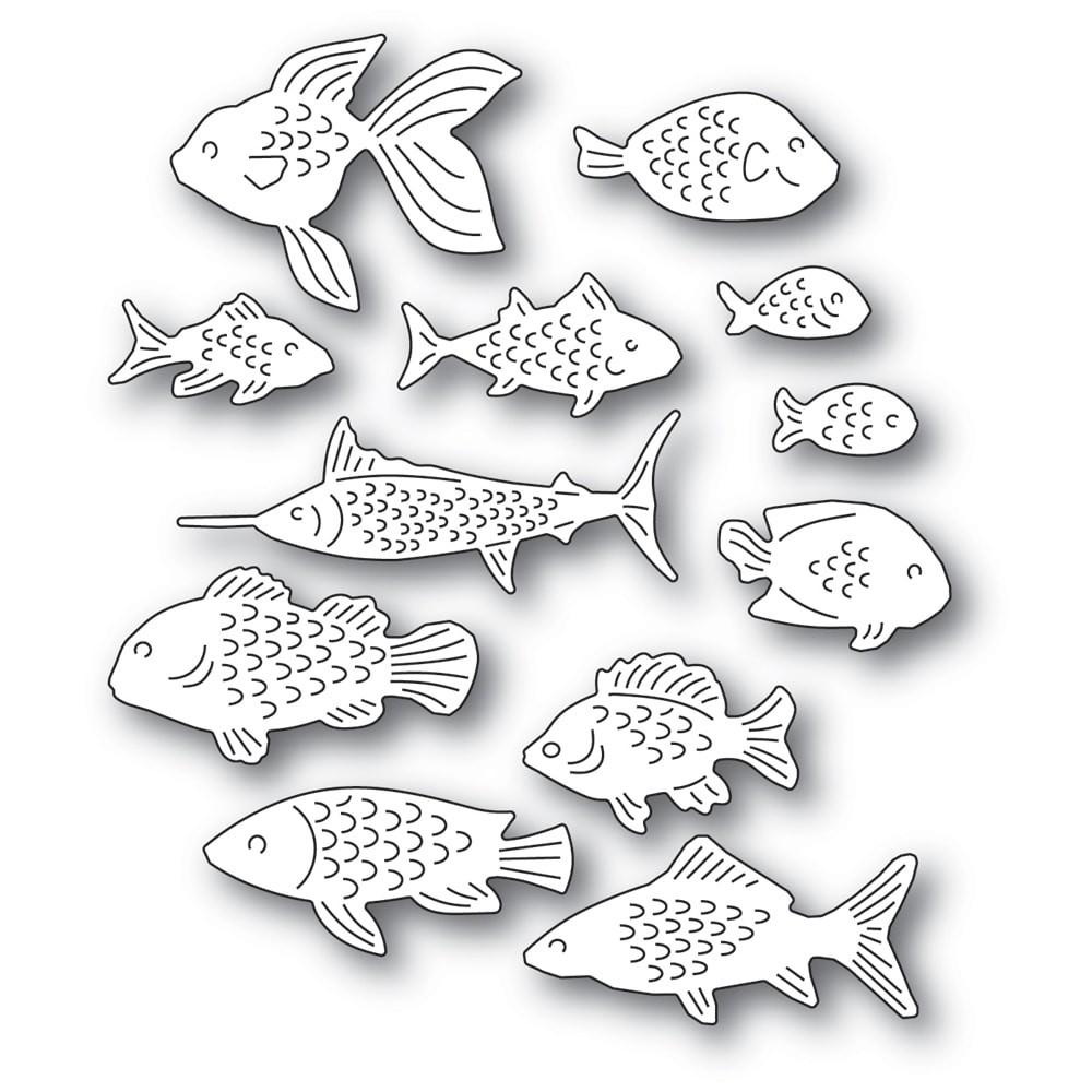 Memory Box School of Fish 94570