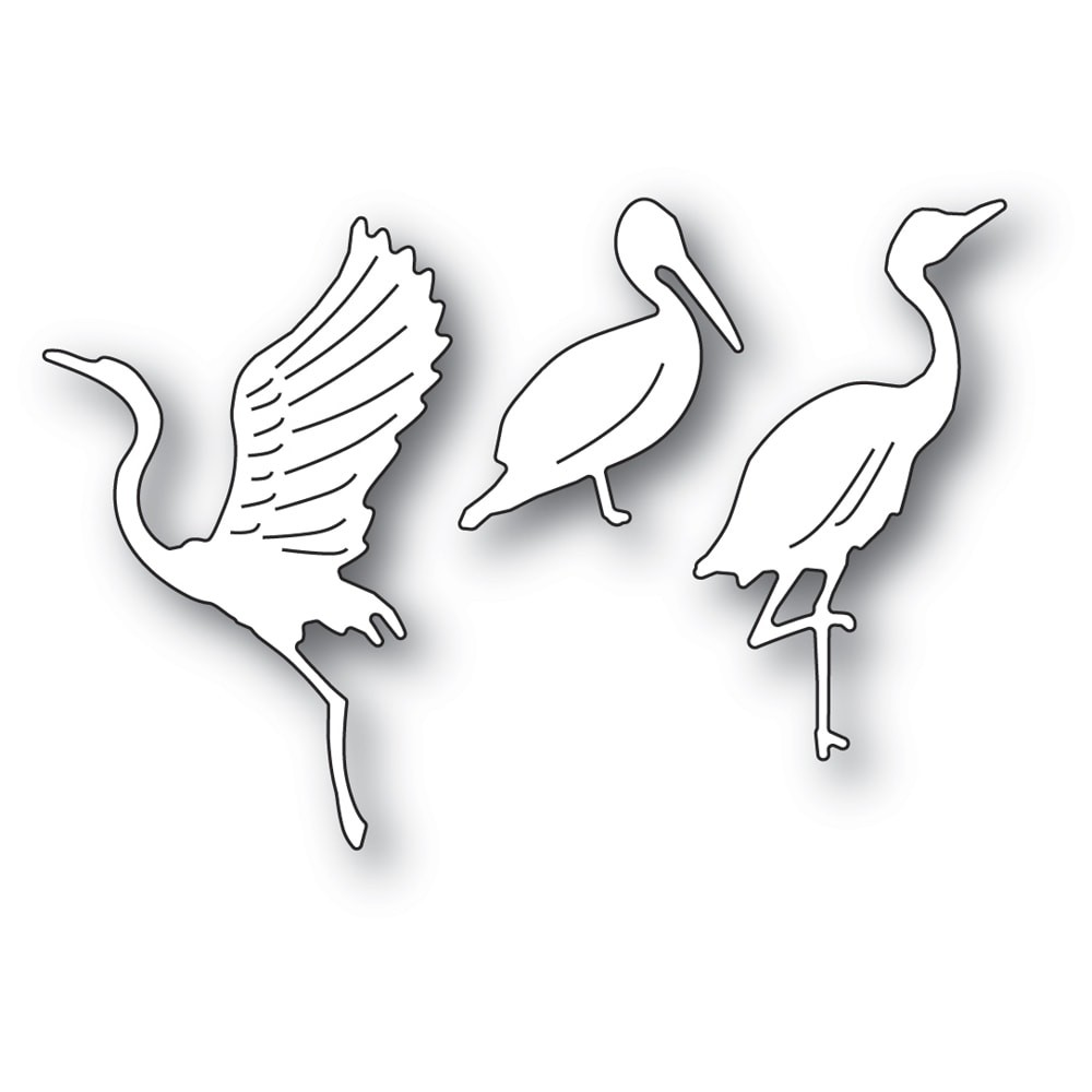Memory Box Graceful Ocean Birds 94576