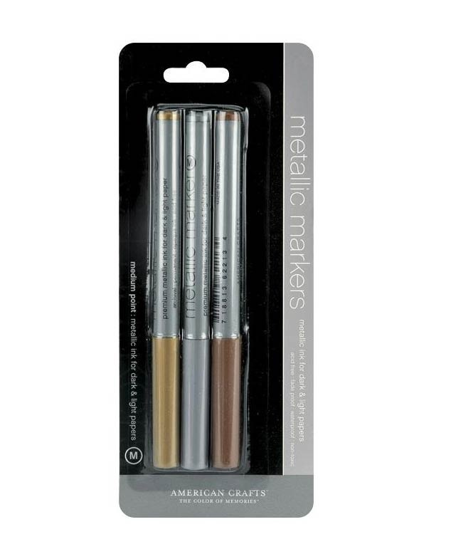 Metallic Markers 3 pack