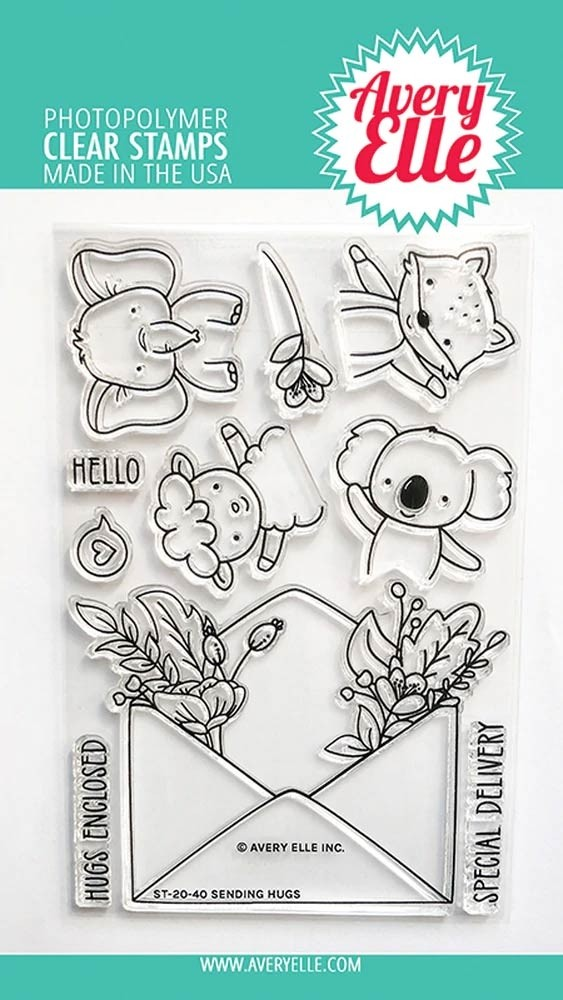 Avery Elle Sending Hugs Clear Stamps