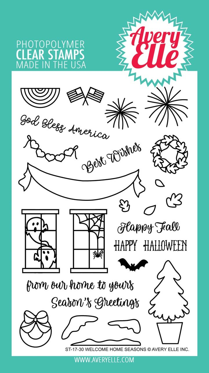 Avery elle welcome home seasons clear stamps m4hsunfo