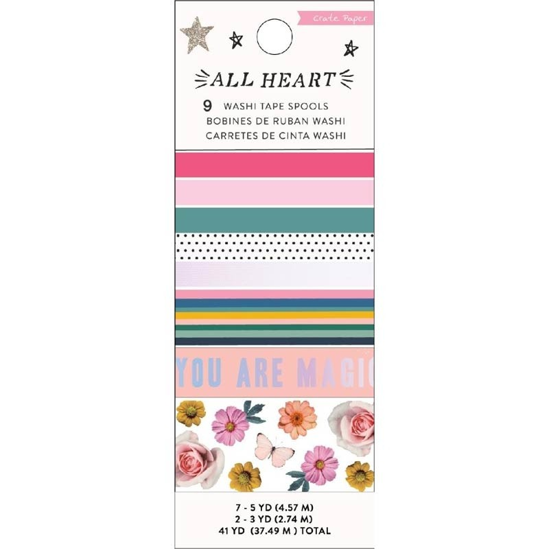 Crate Paper All  Heart Washi Tapes