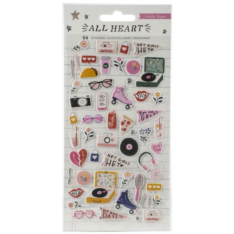 All Heart Puffy Stickers