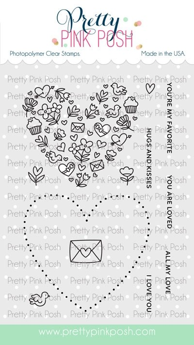 Pretty Pink Posh All My Love Stamp Set