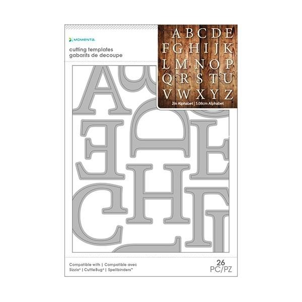 2 inch Alphabet Serif Cutting Template – 26 PC