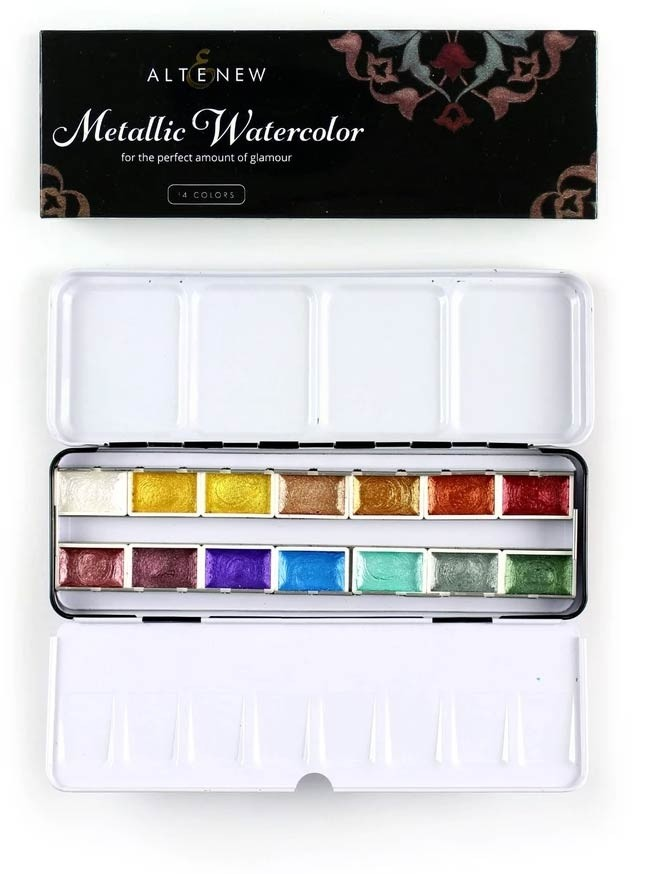 Alt E New Metallic Watercolor 14 Pan Set