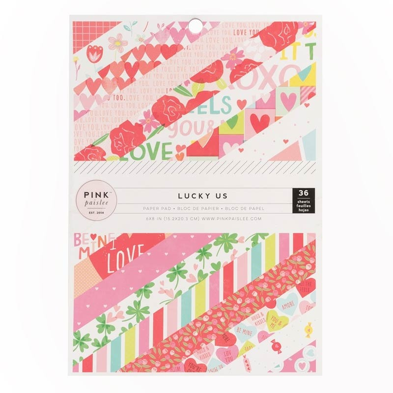 Pink Paislee Lucky Us Paper Pad