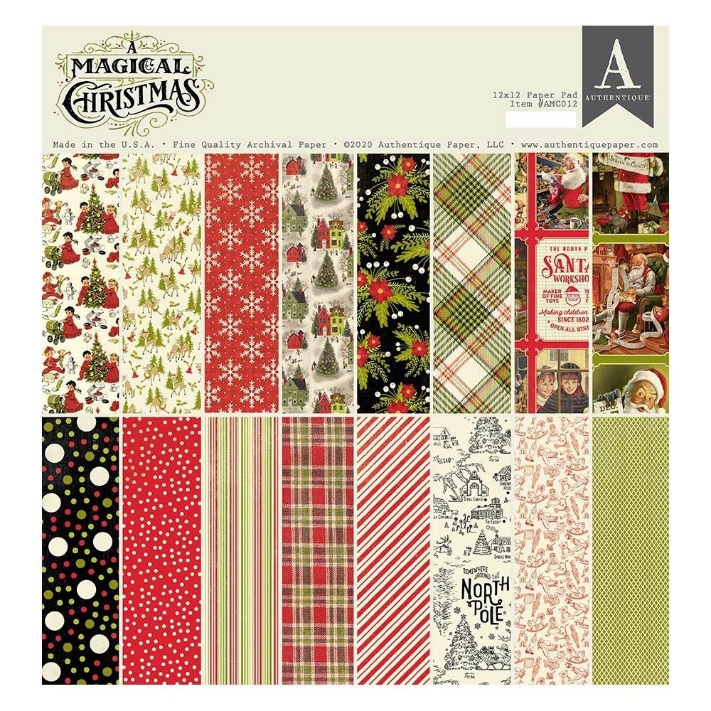 Authentique A Magical Christmas Cardstock Pad 12X12